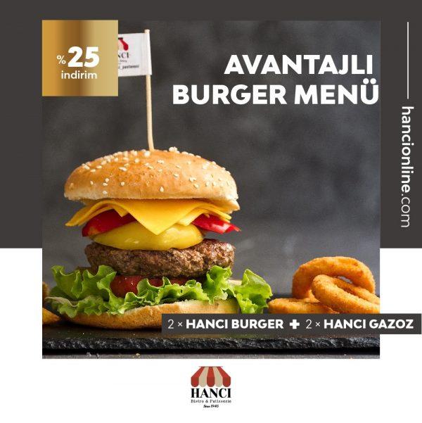 Avantajlı Burger Menü